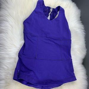 Lululemon Razorback Purple Yoga Bra Tank Top Side